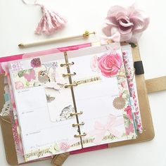 Birds • Flowers• Pink • Bow • Butterfly decoration ✨ #planner #filofax #projectlife #stickynotes #flowers #crownpen #etsy #websterspages #colorcrush #colorcrushplanner #kikkik #planneraddict #washitape #washi #stationary #stickynotes