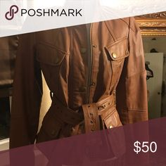 Cognac leather jacket GILI leather jacket Jackets & Coats