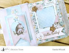 Mini álbum - Karol Witczak - Cute & Co. - Viernes decimotercero Mini Scrapbook Albums, Baby Scrapbook, Scrapbook Pages, Scrapbooking Layouts, Asian Books, Project Life Baby, Diy Crafts For Girls, Forest Friends, Album Design