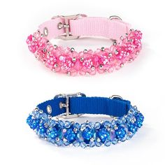 Fabuleash Beaded Dog Collar, coordinates with the Fabuleash Beaded Leashes, $15.95-17.95, from SimplyDogStuff.com. These beautiful Fabuleash Blinged Out Beaded Collars will have your pooch strutting her stuff. They are available in seven flashy colors White, Black, Sapphire, Orange, Violet, Green and Fuchsia.