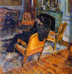 Edouard Vuillard - The Gilded Chair, Madame George Feydeau and Her Son 1906