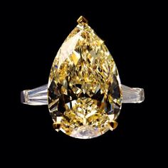 Charismatic Colour Graff is synonymous with the most fabulous jewels in the world; including the finest yellow diamonds, such as this 21.34 carat Fancy Yellow pear shape stone. A coloured diamond is formed by the chance interaction of trace elements within its carbon make-up, wrought by tremendous heat and pressure - a true spectacle of nature.