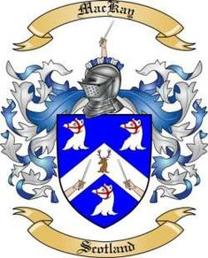 Mackay Family Crest from Scotland2 by The Tree Maker