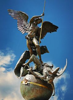 Saint Michael is fighting the Pope's battle with the Devil!