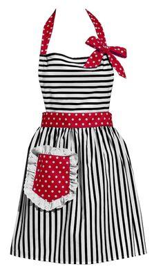 Girly striped Apron