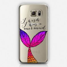 I Wish I Was a Mermaid Phone Case, Mermaid Tail, iPhone Covers, Cool Phone Cases, Samsung Phone Cases, Best Cell Phone Cases