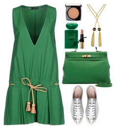 """""""DSquared short dress"""" by thestyleartisan ❤ liked on Polyvore featuring мода, Dsquared2, Miu Miu, Lancôme, Giorgio Armani, Henri Bendel и Bobbi Brown Cosmetics"""