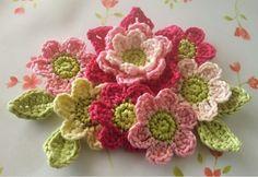 My Little Palette design - crochet flowers - pic only