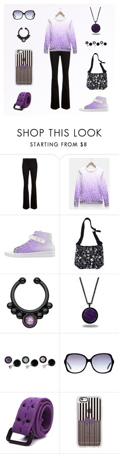 Purple & Black women outfit set by @savousepate on Polyvore