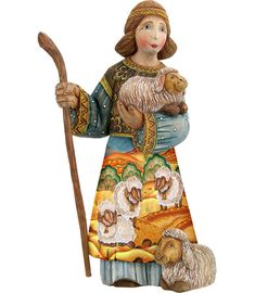 Shepherd Boy, Hand moulded, Hand painted  Limited Edition Russia