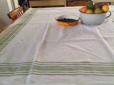 Vintage Soft Linen Tablecloth Four foot Square by Onmykitchentable, £30.00
