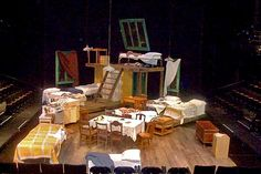 the diary of anne frank set design - Google Search