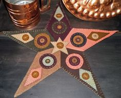 BARN STAR penny rug pattern