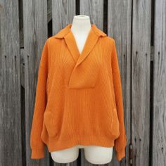 Vintage Women's Orange Sweater by Amina by TomieHarleneVintage, $21.99