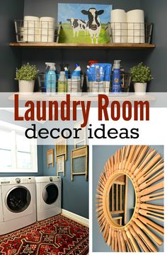 laundry room decorating ideas on a budget Laundry Room Decor Ideas. Inexpensive ideas to decorate your laundry room! Laundry Decor, Laundry Room Organization, Laundry Room Design, Laundry In Bathroom, Laundry Rooms, Laundry Tips, Small Laundry, Laundry Area, Laundry Closet