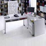 #4: MEMPHIS Schreibtisch-Kombination, Ecktisch, weiß Hochglanz, 125x77x40cm - http://www.xn--brombel-profi-lmb0g.com/schreibtische/4-memphis-schreibtisch-kombination-ecktisch-weis-hochglanz-125x77x40cm