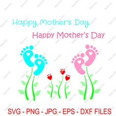 Digital Cut File, Mother's Day, Word Art, Fkowers, Love, designs, Vinyl Cutting File, svg, png, eps, dxf, Silhouette, Studio, scrapbooking by StudioSVG on Etsy