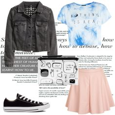 Daydream ⭐ by dascalubella on Polyvore featuring polyvore fashion style H&M Glamorous Converse Monki