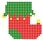 easy Christmas patterns with fuse beads