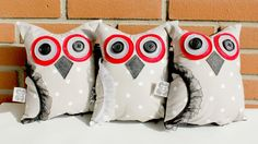 Stuffed Owl Toy For Kids - free shipping by DancheThings on Etsy