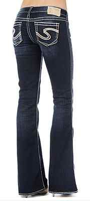 NWT/DEFECT Women's Mid Rise SILVER JEANS Suki Curvy Easy Boot ...