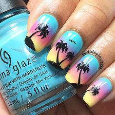 Gorgeous sunset nails by @daisylevans using Whats Up Nails palm stickers from whatsupnails.com (link in bio). Shipping worldwide! In our store whatsupnails.com you can get: · Whats Up Nails tape, stickers and stencils · Pure Color brushes, dotting and watermarble tools · Milv water decals · NCLA nail wraps · Mont Bleu glass files and tweezers · Liquid nail tape Liquid Palisade by Kiesque · Daily Charme nail charms · Swarovski crystals · Crystal Katana pickup tool Stamping: · MoYou-London…