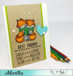 Hello Everyone Martha Here with You! Today I have a sweet card to show you featuring Neat and Tangled Stamps, And some Colouring on K...