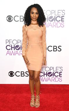 Zuri Hall from People's Choice Awards 2017 Red Carpet Arrivals  E! News' very own correspondent poses on the red carpet before interviewing the biggest stars.