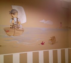 Mural infantil pintado. Www.carolmoreno.com
