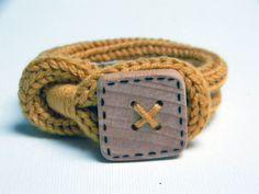 Handmade icord bracelet