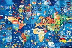 World_mural co-created by children at 1999 WCF