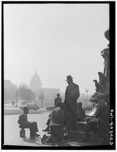 """December, 1943. """"Washington, D.C., in front of Union Station.""""Bubley, Esther, photographer. Farm Security Administration – Office of War Information Photograph Collection, Library of Congress."""