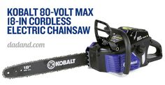 Kobalt 80V Max 18-inch Cordless Electric Chainsaw