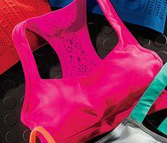 cute lace back sports bra. Want!!!