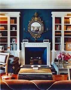 Navy blue living room
