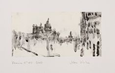 Venice No. Monotype, 34 x cm Printmaking, Venice, Art Projects, Mixed Media, Diagram, Urban, Map, Landscape, Architecture