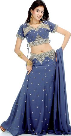 One of the dresses that inspired Kelsey's blue sharara dress.