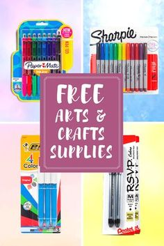 save on arts crafts supplies with free crayola samples from get it