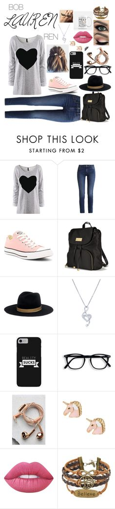 """""""Lauren"""" by stylishcece-81005-corny ❤ liked on Polyvore featuring Calvin Klein, Converse, Victoria's Secret, Janessa Leone, BERRICLE, Happy Plugs and Lime Crime"""