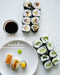 I created these fun, vegan sushi recipes that offer similar textures and colors as my favorite fish. All of these look adorable and taste even better.