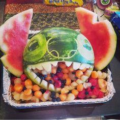 Lilo and Stitch carved watermelon