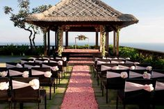Weddings at the Bvlgari Bali are absolutely spectacular. The resort has an in-house wedding planner who can take care of every single detail of a wedding, down from the ceremony, to the flowers, to the performers, and the reception. http://www.theluxurylisting.com/bvlgari-bali/