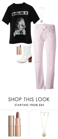 """""""Kendall Jenner Inspired Outfit"""" by daniellakresovic ❤ liked on Polyvore featuring Enfants Riches Déprimés, Alyx, Kurt Geiger, Charlotte Tilbury and Givenchy"""