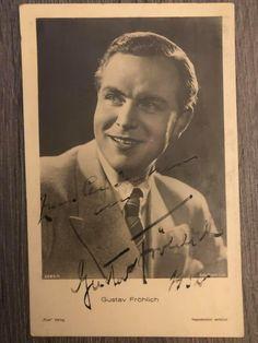 vintage autograph postcard of Gustav Frölich. Metropolis 1927, Vintage, Vintage Comics