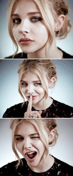 Chloe Moretz - favourite up and coming star.... Loves her sass...