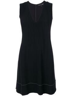 Proenza Schouler V-neck Mini Dress Karen Page, Asymmetrical Design, Black Silk, Proenza Schouler, Women Wear, Spring Summer, Glamour, V Neck, Mini