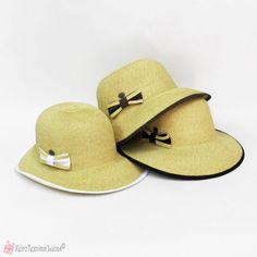 Γυναικείο ψάθινο καπέλο σε 3 χρώματα