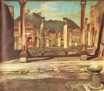 Pompeji Have House Of The Chirurgus With The Vesuv 1898 Acrylic Print by Csontvary Tivadar Kosztka Vincent Van Gogh, Electric Station, Post Impressionism, Rhone, Ancient Art, Great Artists, Les Oeuvres, Tapestry, Art Prints