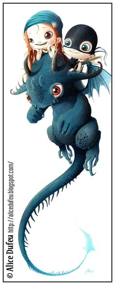 by Alice Dufeu, How to Train your dragon...