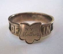 Late Victorian Mourning Ring, My Mother, with hair